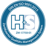 H+S DIN EN ISO 9001-2015 Zertifiziertes Qualitätsmanagement-System